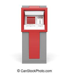 ATM on white background - 3d illustration of ATM on white...