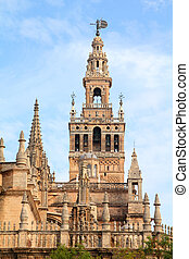 Seville cathedral - Seville in Andalusia, Spain. Giralda...