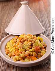 gourmet couscous, tajine - tajine, couscous and vegetable