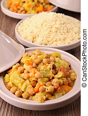 vegetarian tajine - couscous and vegetables