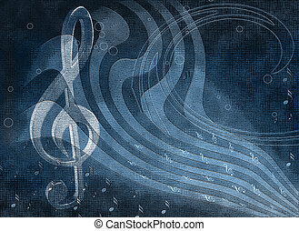 Background music with notes