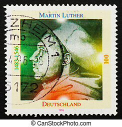 Postage stamp Germany 1996 Martin Luther German Priest -...
