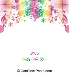 Happy New Year - Beautiful greeting card of happy new year...
