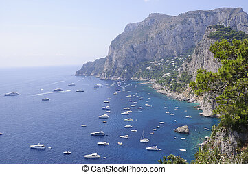 Capri, Italy - Capli is an island in the Tyrrhenian Sea, on...