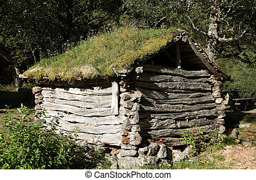 Old wooden house in Norway - Old typical Norwegian wooden...
