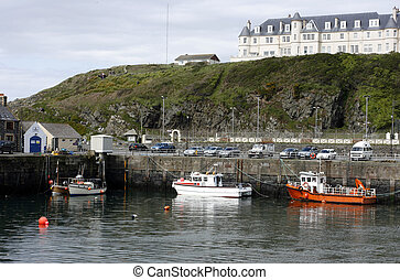 Port Patrick Harbour, Galloway, Sco - Part of the harbour at...