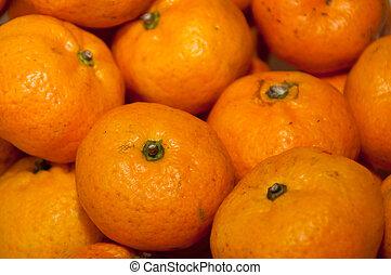 Mandarin orange, Citrus reticulata, Blanco