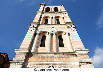 Italy - Ferrara - Italy - unfinished bell tower of...