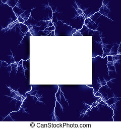 Lightning surrounded frame