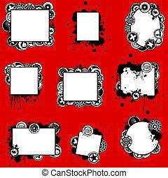 Unique Grunge Splatter Cards Set