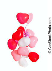 Group of heart shaped balloons
