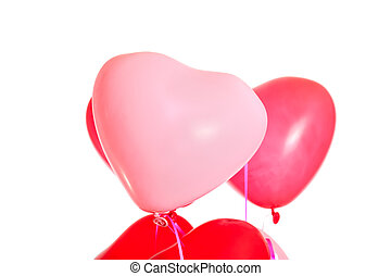 Pair of heart shaped balloons