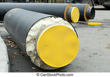 Pipes for hot water and steam heating City heat pipeline