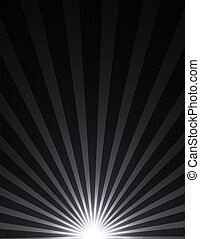 Abstract bright light illustration over black background