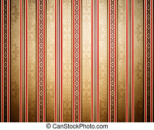 Vintage background with stripes - Beautiful wallpaper with...