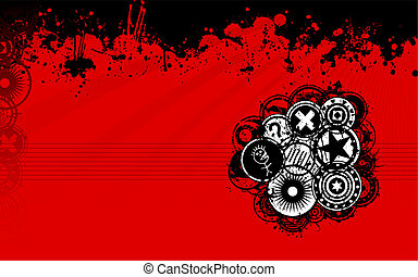 Red and Black Grunge Background - A unique grunge vector...