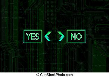 decision - The decision - conceptual illustration