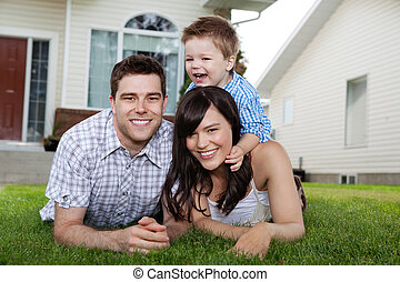 Portrait of Cheerful Family - Portrait of cheerful family...