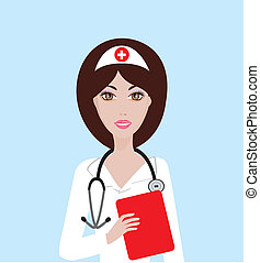 Nurse - Vector illustration of a nurse