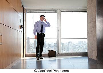 Male Entrepreneur On Call