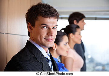 Handsome Male Executive Smiling - Portrait of handsome male...
