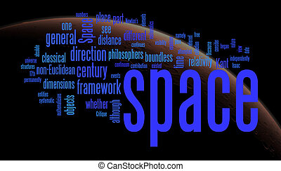 space word clouds with nasa image background