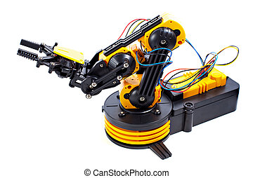 Black and Yellow Robotic Arm
