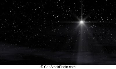 The Star - Seamlessly looping. Bethlehem Christmas Star with...