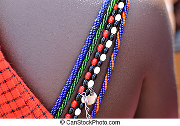 Masai - typical jewels of the tribe Masai