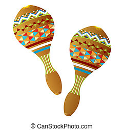 Clip Art Maracas Clipart maracas stock illustration images 2394 illustrations two wooden instruments on white background