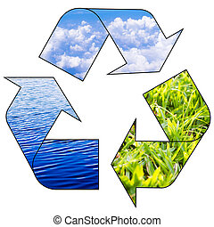 recycle concepts to preserve ecological balance of earth.