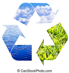 recycle concepts to preserve ecological balance of earth