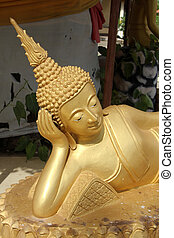Head of sleeping Buddha - Head of statue of sleeping Buddha...