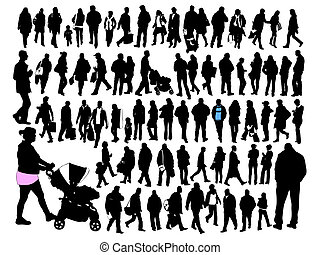 People II - Silhouettes of ordinary people in everyday...
