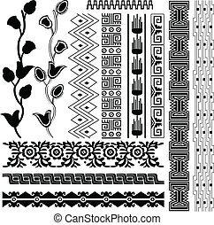 Ancient american pattern - Vector image of ancient american...