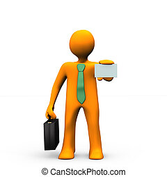 Introduction - Orange cartoon with black briefcase and...