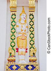 thai art statue in temple