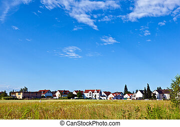 housing area in rural landscape near Munich