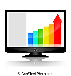 Business statistics on the screen