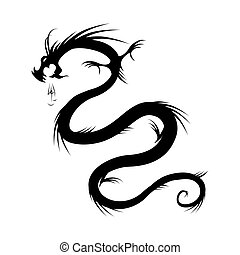 Dragon tattoo vector illustration for your design
