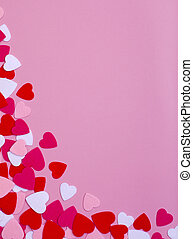 Valentine Heart Background on Pink