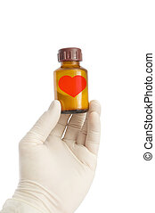 Medicine for the enamored - The hand in a glove on the...
