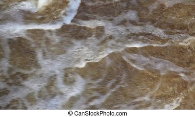 Rough water - Rough current water with foam, water for...