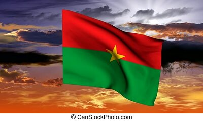 Flag of the Republic of Burkina Fas