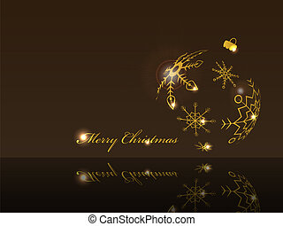 Christmas ball - Shiny xmas greeting card