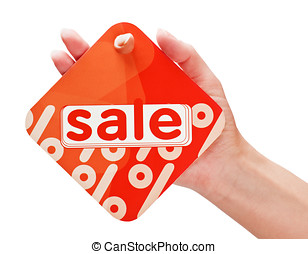 hand holding a card with a discount