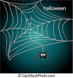 Spider net - Vector picture with spider net