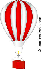 Hot air balloon - Vector hot air balloon