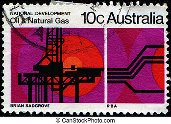 Oil and Natural Gas - AUSTRALIA - CIRCA 1970: A stamp...