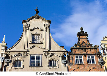 Apartment Houses Ornate Top - Ornate top of a tenement...